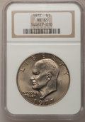 Eisenhower Dollars: , 1977 $1 MS65 NGC. NGC Census: (1737/284). PCGS Population (1049/796). Mintage: 12,596,000. Numismedia Wsl. Price for proble...