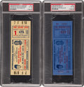 Baseball Collectibles:Tickets, 1953 Rocky Mariano vs. Jersey Joe Walcott Full PSA EX-MT 6 GradedTickets Lot of 2....