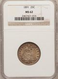 Seated Quarters: , 1891 25C MS62 NGC. NGC Census: (67/350). PCGS Population (81/356).Mintage: 3,920,600. Numismedia Wsl. Price for problem fr...
