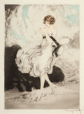 Pin-up and Glamour Art, LOUIS JUSTIN LAURENT ICART (French-American, 1888-1950). Ladywith a Daisy. Etching. 16.5 x 12 in.. Signed lower right. ...