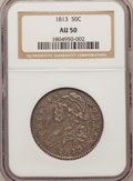 Bust Half Dollars: , 1813 50C AU50 NGC. NGC Census: (25/276). PCGS Population (59/231).Mintage: 1,241,903. Numismedia Wsl. Price for problem fr...