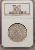 Bust Half Dollars, 1818 50C AU53 NGC. O-107. NGC Census: (36/268). PCGS Population(43/225). Mintage: 1,960,322. Numismedia Wsl. Price for pro...