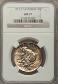 Commemorative Silver, 1925-S 50C California MS67 NGC....
