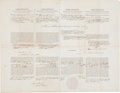 Autographs:U.S. Presidents, James Buchanan Four-Language Ship's Papers Signed...