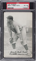 "Baseball Cards:Singles (Pre-1930), 1921 Exhibits Geo. H. ""Babe"" Ruth PSA EX-MT 6...."