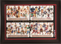 """Autographs:Others, Circa 2000 """"Super Heroes of Sports"""" Multi-Signed Lithograph...."""