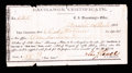 "Confederate Notes:Group Lots, Marshall, (TX) - $100 ""Old Issue/ $56.67 ""New Issue"" ExchangeCertificate Dec. 24, 1864.. ..."