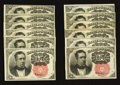 Fractional Currency:Fifth Issue, Fr. 1264 10¢ Fifth Issue Twelve Examples Very Fine-Extremely Fineor Better.. ... (Total: 12 notes)