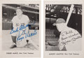 Autographs:Photos, Circa 1980 Mickey Mantle & Roger Maris Signed Picture PackPremiums....