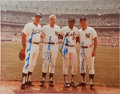 Autographs:Photos, Circa 1980 New York City Center Field Legends Multi-Signed Large Photograph....