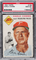 Baseball Cards:Singles (1950-1959), 1954 Topps Earle Combs #183 PSA Gem Mint 10 - Pop 1, The FinestKnown! ...