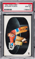 Hockey Cards:Singles (1960-1969), 1962 Parkhurst Jacques Plante #49 PSA Gem Mint 10....