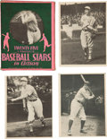 Baseball Cards:Sets, 1929 R316 Kashin Publications Coral Box With Cards (22) Includes Ruth....