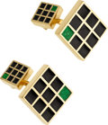 Estate Jewelry:Cufflinks, Enamel, Gold Cuff Links, David Webb . ...