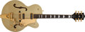 Musical Instruments:Electric Guitars, Modern Gretsch 6120KS Metallic Gold Semi-Hollow Body ElectricGuitar, #999120KS-139. ...