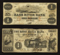 Obsoletes By State:Massachusetts, Beverly, MA- Bass River Bank $1 Oct. 2, 1858 G2a. Beverly, MA- BassRiver Bank Altered $1 Sep. 1, 1857 A5. ... (Total: 2 notes)