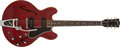 Musical Instruments:Electric Guitars, 1961 Gibson ES-330TDC Burgundy Semi-Hollow Electric Guitar, #14932. ...