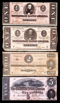 Confederate Notes:1864 Issues, T70 $2 1864 VG. T71 $1 1864 VG. T71 $1 1864 Fine.. ... (Total: 3 notes)