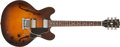 Musical Instruments:Electric Guitars, 1984 Gibson ES-335 DOT Sunburst Super Tune Vibrola Electric Guitar, # 81244538. ...
