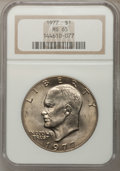Eisenhower Dollars: , 1977 $1 MS65 NGC. NGC Census: (1740/286). PCGS Population (1094/809). Mintage: 12,596,000. Numismedia Wsl. Price for proble...