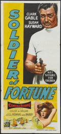 "Movie Posters:Adventure, Soldier of Fortune (20th Century Fox, 1955). Australian Daybill(13.5"" X 29.5""). Adventure.. ..."