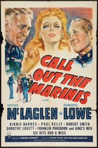 """Call Out the Marines (RKO, 1941). One Sheet (27"""" X 41""""). Comedy"""