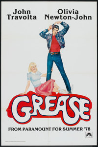 """Grease (Paramount, 1978). One Sheet (27"""" X 41""""). Advance. Musical"""