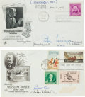 Autographs:Artists, Eight First Day Covers Containing the Signatures of ThirteenArtists, including Peter Hurd, Ross Stefan, Lou Feck, John Hilt...(Total: 8 Items)