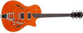 Musical Instruments:Electric Guitars, Recent Taylor T3B Translucent Amber Thin Hollow Body ElectricGuitar. ...