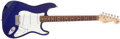 Musical Instruments:Electric Guitars, 1993 Fender Stratocaster 40th Anniversary American StandardElectric Blue Guitar # N388622...