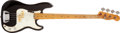 Musical Instruments:Bass Guitars, 1974 Fender Telecaster Black Bass Guitar, #401922....