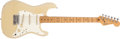 Musical Instruments:Electric Guitars, 1983 Fender Stratocaster Cream Electric Guitar, # E331458....