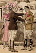 "Mainstream Illustration, FLOYD MACMILLAN DAVIS (American, 1896-1966). ""For the Love ofHell, You're Going to Play Polo in an Hour,"" Always Tomor..."