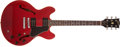 Musical Instruments:Electric Guitars, 1981 Gibson ES-335 Pro Red Electric Guitar, #81351039....