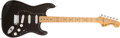 Musical Instruments:Electric Guitars, 1975 Fender Stratocaster Black Electric Guitar, #675544....