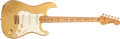 Musical Instruments:Electric Guitars, 1982 Fender Stratocaster Gold Electric Guitar, # CA10245....