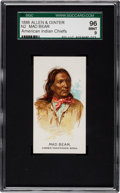"Non-Sport Cards:Singles (Pre-1950), 1888 N2 Allen & Ginter ""American Indian Chiefs"" Mad Bear SGC 96MINT 9 - One of Two Mint N2s Known!..."