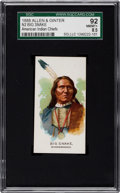 "Non-Sport Cards:Singles (Pre-1950), 1888 N2 Allen & Ginter ""American Indian Chiefs"" Big Snake SGC92 NM/MT+ 8.5 - Pop 1, Finest Known!..."