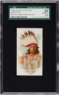 "Non-Sport Cards:Singles (Pre-1950), 1888 N2 Allen & Ginter ""American Indian Chiefs"" British, ErrorSGC 92 NM/MT+ 8.5 - Highest Graded!..."