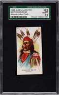 "Non-Sport Cards:Singles (Pre-1950), 1888 N2 Allen & Ginter ""American Indian Chiefs"" Rushing BearSGC 92 NM/MT+ 8.5 - The Finest Known!..."