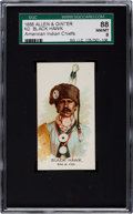 "Non-Sport Cards:Singles (Pre-1950), 1888 N2 Allen & Ginter ""American Indian Chiefs"" Black Hawk(S&F) SGC 88 NM/MT 8 - Only One Higher!..."