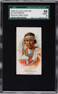 "Non-Sport Cards:Singles (Pre-1950), 1888 N2 Allen & Ginter ""American Indian Chiefs"" Cayatanita SGC88 NM/MT 8 - Only One Higher!..."