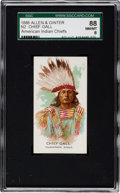"""Non-Sport Cards:Singles (Pre-1950), 1888 N2 Allen & Ginter """"American Indian Chiefs"""" Chief Gall,Correct SGC 88 NM/MT 8 - Finest Known!..."""