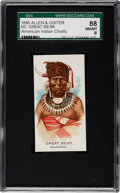 "Non-Sport Cards:Singles (Pre-1950), 1888 N2 Allen & Ginter ""American Indian Chiefs"" Great Bear SGC88 NM/MT 8 - Highest Grade Known!..."