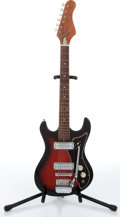 Musical Instruments:Electric Guitars, 1960s Fender Stratocaster 3/4 Japanese Copy Red Sunburst ElectricGuitar Serial# N/A....