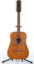 Music Memorabilia:Instruments , 1960s Defia 12-String Natural Acoustic Guitar No Serial Number....