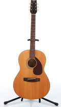 Music Memorabilia:Instruments , 1970s Yamaha FG-75 Natural Acoustic Guitar Serial # T0320370....
