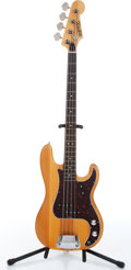 Music Memorabilia:Instruments , 1970s Univox Precision Copy Natural Electric Bass Guitar Serial #005120....