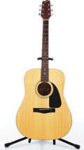 Music Memorabilia:Instruments , 1990s Fender Gemini II Natural Dreadnought Acoustic Guitar Serial #A5216905....