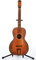 Music Memorabilia:Instruments , 1930s No Name Natural Cowboy Guitar No Serial # 154....